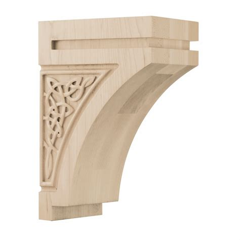 Corbels White 01600928wk1 Gaelic Decorative Wood Corbel Medium White Oak