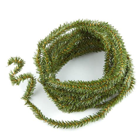 wired artificial pine rope garland artificial greenery