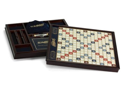 deluxe scrabble with rotating board scrabble deluxe wooden edition with rotating board ebay