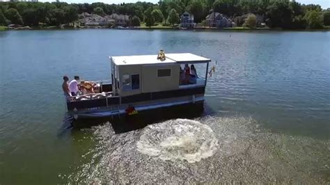 pontoon boat house the portage lakes pontoon boat house drone footage august 22 2105 cleveland