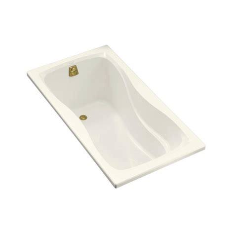 left hand bathtub kohler hourglass 5 ft left hand drain alcove bath tub in