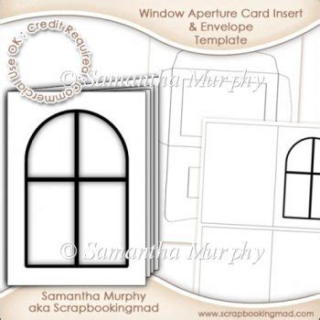 window templates for cards window aperture card insert envelope commercial use ok