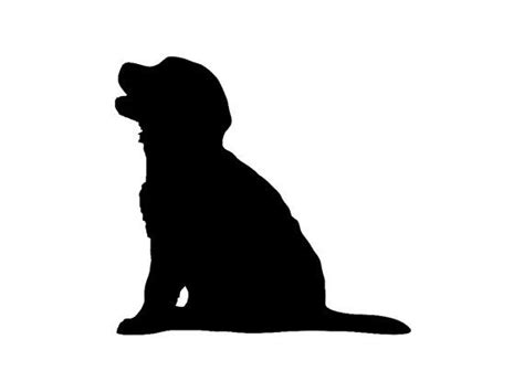 Golden Retriever Sitting Outline by Best 25 Silhouette Ideas On Labrador Silhouette Prints And Silhouettes
