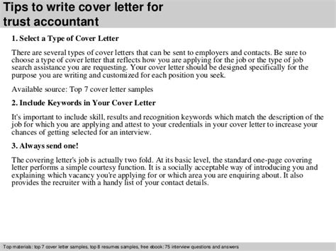 Trust Accountant Cover Letter by Trust Accountant Cover Letter