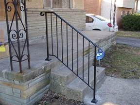 Handrails For Outdoor Steps Iron X Exterior Handrails Stair Solution