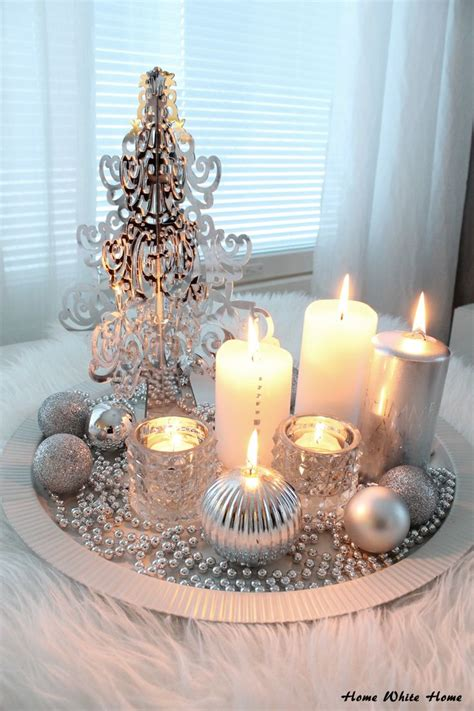 home table decor best 25 silver christmas decorations ideas on pinterest