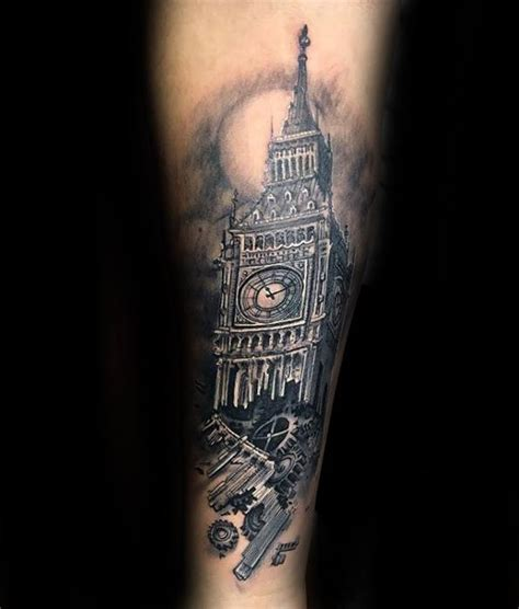 big ben tattoo 50 big ben designs for clock ink ideas