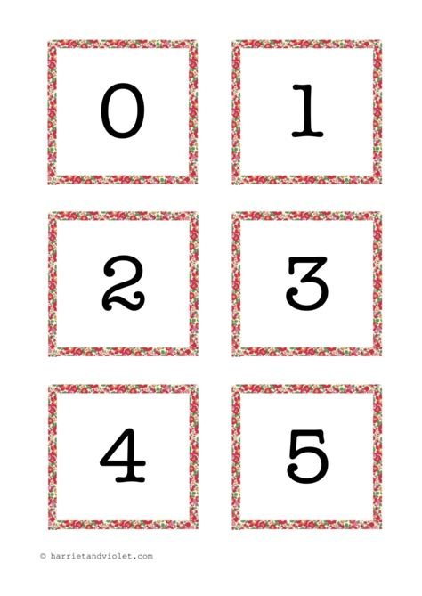 number cards    teaching resources print play learn