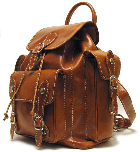 Handmade Rucksack - leather backpack bag messenger brown handmade