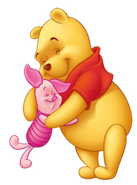 piglet and pooh hugging