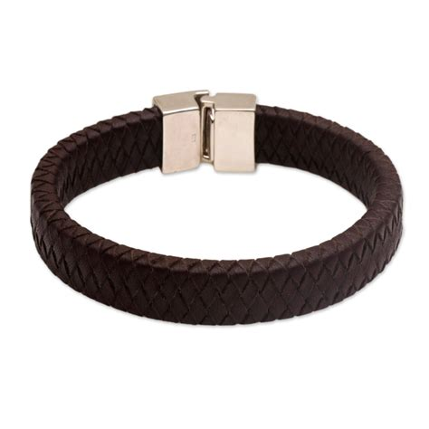 Handmade Mens Braided Leather Bracelets - handmade leather braided bracelet steadfasr novica ebay