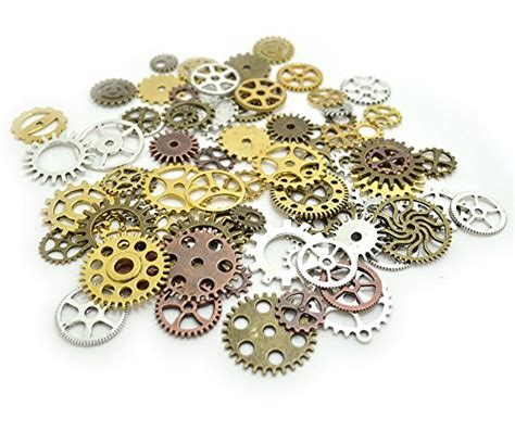 vintage geared charm coloring book books 100 gram assorted antique steunk gears charms pendant