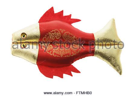 new year decoration fish new year prosperity fish ornaments on white