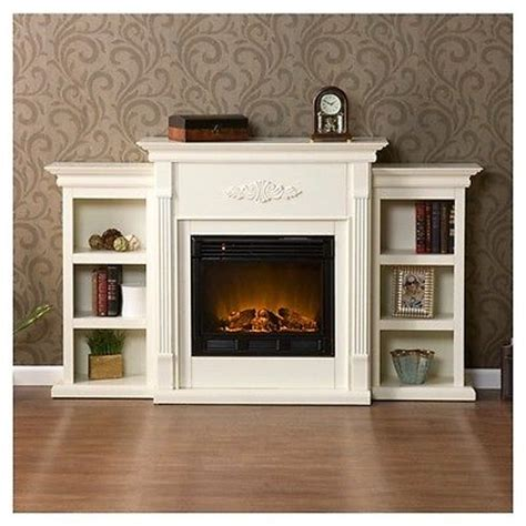 free standing electric fireplace mantle media tv storage