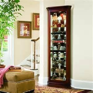cherry corner curio cabinet shop pulaski cherry corner curio cabinet at