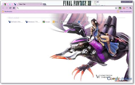 theme google chrome final fantasy 7 final fantasy xiii google chrome theme game themes