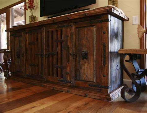 Wood Vanities Old Wooden Spanish Style Furniture Tv Stand Dashing