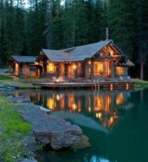 Cabin On A Lake by Discover And Save Creative Ideas