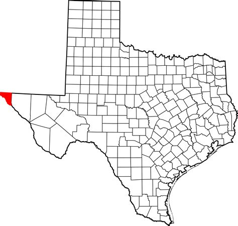 where is el co on texas map file map of texas highlighting el paso county svg