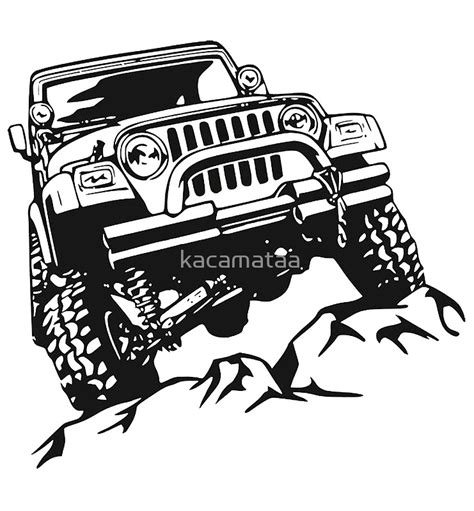 jeep drawings jeep wrangler drawing prints redbubble