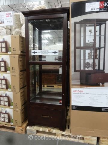 pulaski corner curio cabinet costco pulaski furniture hayden curio cabinet
