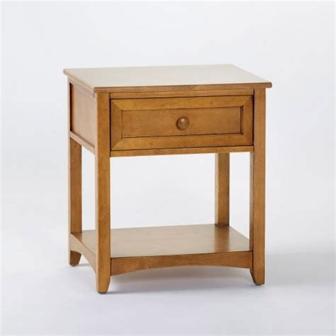 Bedside Nightstands schoolhouse 1 drawer nightstand pecan traditional nightstands and bedside tables by