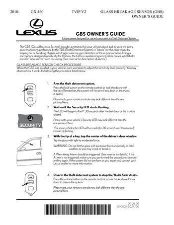 car repair manuals download 2010 lexus gx user handbook download 2010 lexus gx460 2010 2015 gx460 tvip v2 glass breakage sensor gbs owners guide pdf