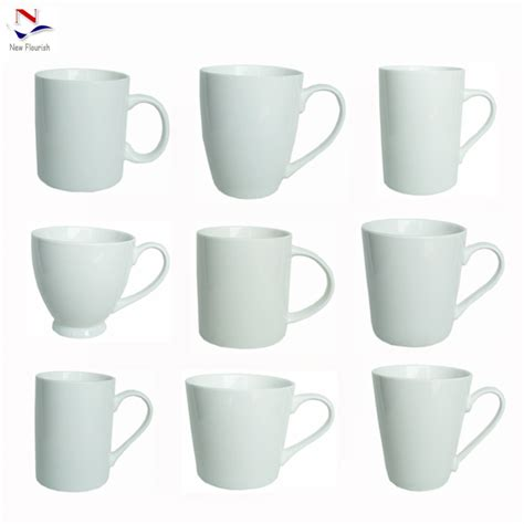 different shapes coffee mug online low moq wholesale different shapes white ceramic coffee