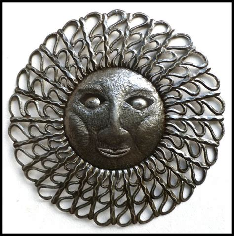 sun metal art haitian metal oil drum sun designs steel