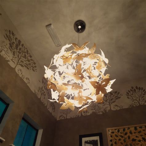 Butterfly Ceiling Light Butterflies Chandelier Eclectic Chandeliers Other Metro By Inspaces