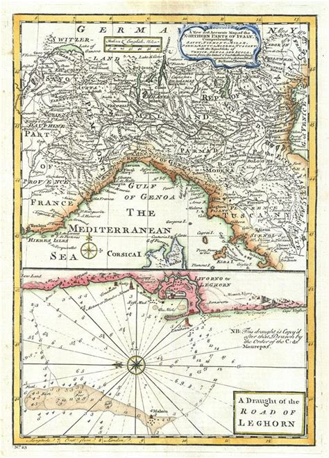 sections of italy a new and accurate map of the northern parts of italy a