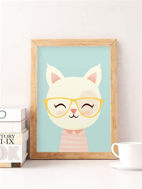 cute printable wall art cute cat print cat wall art animals print safari wall