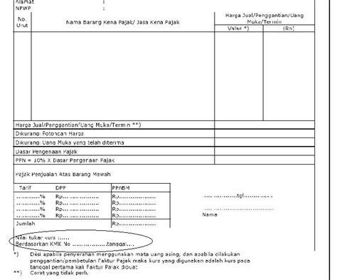 pembuatan faktur pajak dengan uang muka perubahan penginputan faktur pajak per 1 april 2013