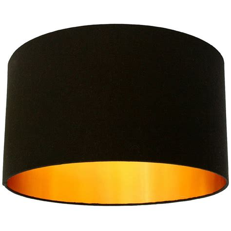 black l shades with gold lining homeofficedecoration black drum l shades with gold lining