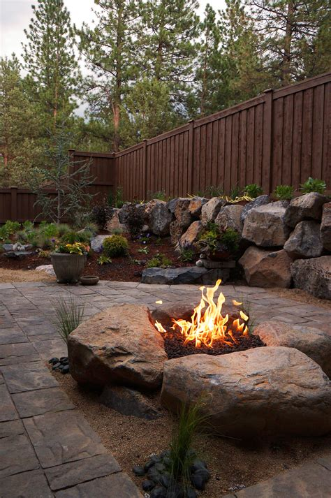 paver patio gas fire pit in northwest bend oregon
