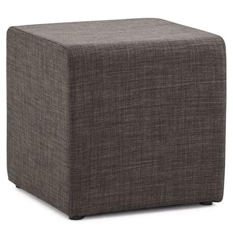 puffer hocker petit pouf youca en forme de cube en tissu tram 233 gris fonc 233