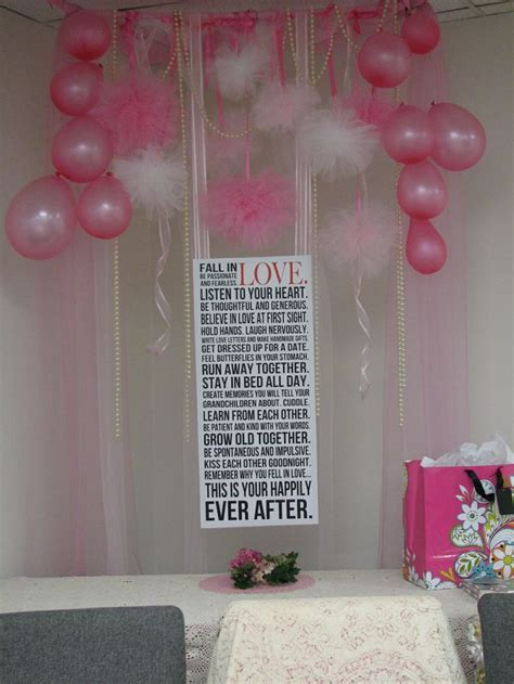 Pinterest inspired bridal shower decorations above the