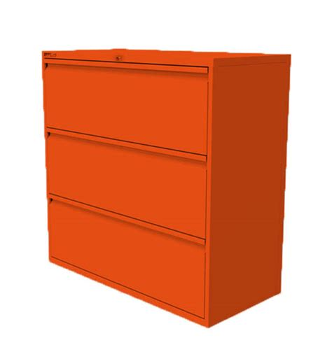 Orange Filing Cabinet 3 Drawer Side Filing Cabinet Orange
