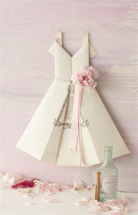 Paper Dress Craft - diy tutorial paper dolls origami paper dress