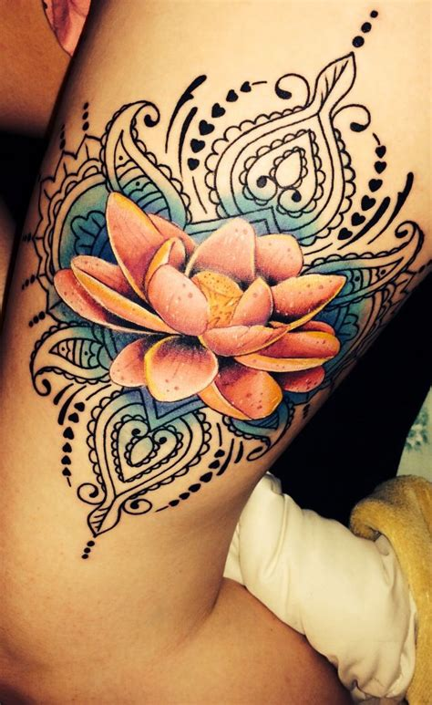 lotus tattoo on thigh tattoo lotus tattoo thigh flower next project