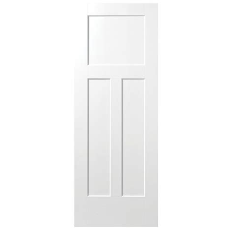 Doors Interior Home Depot by Masonite 24 In X 80 In Winslow Primed 3 Panel Solid Core
