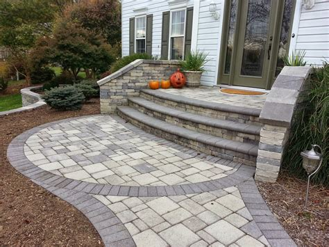 Paver Patio Steps Paver Stoop Gallery