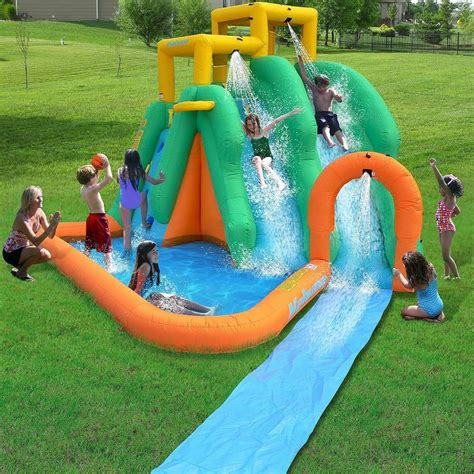 backyard inflatable pools twin water slide park inflatable back yard outdoor bounce