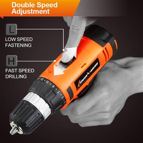 Cordless Rechargeable Electric Drill Dc D010 Bor Listrik lomvum bor listrik lithium battery rechargeable 220v 24v orange jakartanotebook