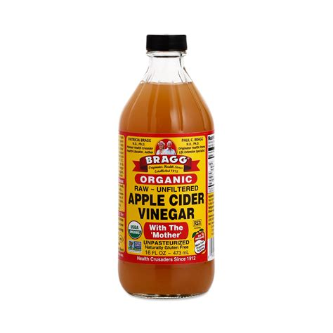 apple cider organic apple cider vinegar by bragg thrive market