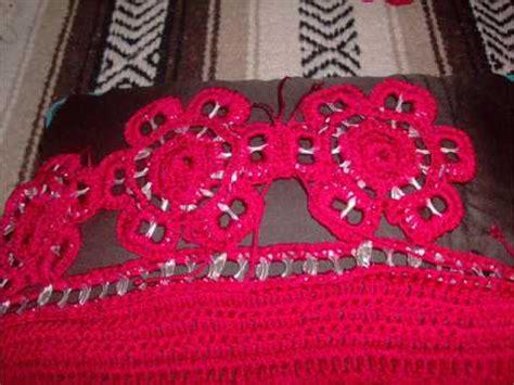 tejer con fichas de lata 0 45 parte 1 3 como hacer bolsa flores arillos ganchillo