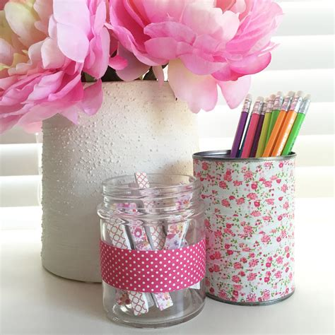 pretty desk accessories use washi to decorate desk accessories canadian living