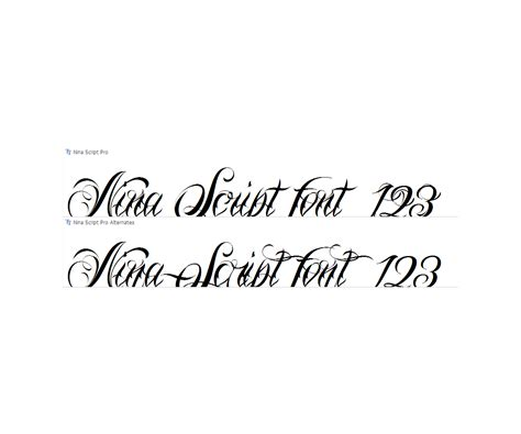 cursive fonts for tattoos calligraphy tatto font family script tatto fonts