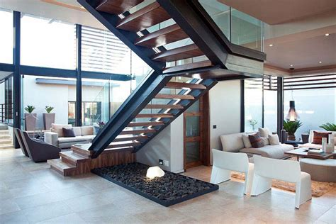 stairs open plan living space house aboobaker limpopo