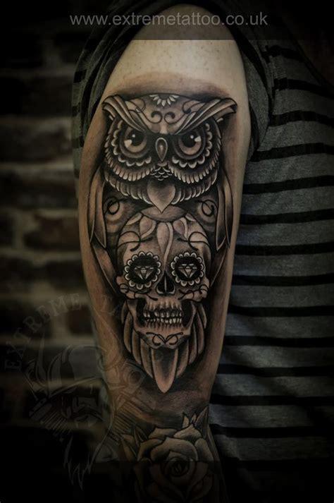 sugar skull celtic owl tattoo design art pinterest owl skull tattoos sugar skull tattoos and tattoo sugar